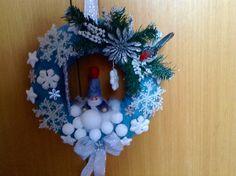 Zimní věnec na dveře