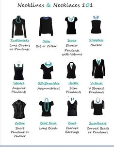 What Type Of Necklace To Wear With Necklines :)