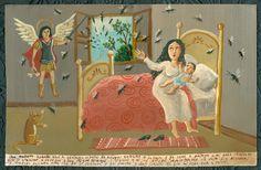 Mexican Ex Voto Retablo Divine Intervention of by CathyDeLeRee, $125.00