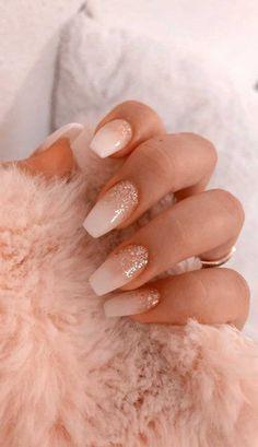 50 Glittering Acrylic Nail Designs for Long and Medium-Length Nails coffin nails, Long nails, nails, nails. Simple Acrylic Nails, Best Acrylic Nails, Acrylic Nail Designs, Acrylic Nails Coffin Short, Colorful Nails, French Nail Designs, White Nail Designs, Nail Polish Designs, Acrylic Art
