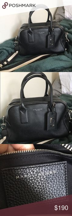 AUTHENTIC BLACK MARC JACOBS BAG w/ Long strap AUTHENTIC BLACK MARC JACOBS BAG w/ Long strap   Great Deal only worn twice!! Spacious and goes with everything!!  Send offers!! :) Marc Jacobs Bags Totes