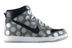 Nike de poá! Sportswear Dunk-high-polka