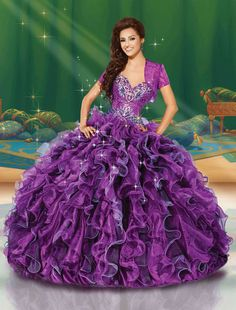 Princess Jasmine inspired gown from Disney Royal Ball Style Number 41081 coming soon to Dresses By Russo. #dressesbyrusso #quinceanera #dress #disneyroyalball