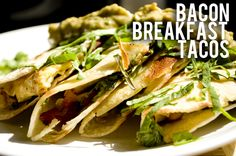 Bacon #breakfast tacos are easy to make and taste absolutely amazing!
