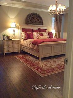 Refresh - Renew: Master Bedroom reveal-(New Floors!)