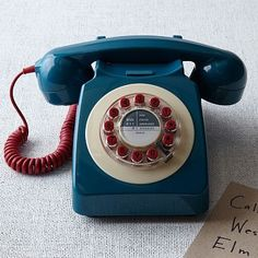 746 Phone - Blue #westelm: In celebration of the original British retro telephone, also known as the 'modern phone,' the 746 remake retains a vintage look and design featured in the 1967 edition.