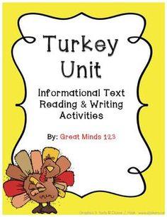 great turkey language arts activities, lots of nonfiction information & anchor charts