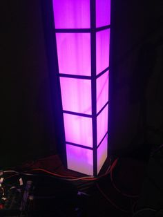 DIY light towers using a product called Coroplast and black duct tape