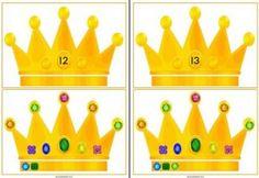 De kroonkaarten zijn er in drie versies: Kronen van 0 t/m 20 met diamanten Kronen van 0 t/m 20 zonder diamanten Kronen met diamanten zonder cijfers. Verder bevat het document cijfers van 0 t/m 20 en een vel met lege kronen.
