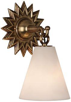 """Robert Abbey Churchill 11 3/4"""" High Aged Brass Wall Sconce -"""