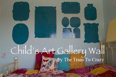 Child art wall gallery