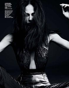 dark star: aymeline valade by hedi slimane for vogue china november 2012 | visual optimism; fashion editorials, shows, campaigns & more!