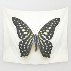 Black Butterfly Wall Tapestry
