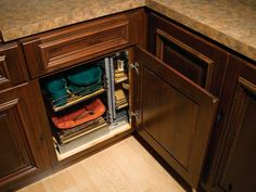 Find This Pin And More On Define Your Style Cabinet Accessories For Custom Kitchen Cabinetry Corner Pull Out