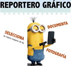"""Aprendizaje cooperativo: el rol de """"reportero gráfico"""" recoge documentos gráficos sobre el trabajo que se lleva a cabo para seleccionar luego las mejores imágenes y tener un reportaje del proceso."""