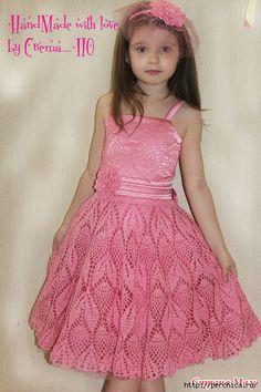 детское платье с узором ананас схемы