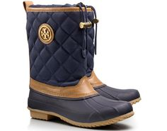 Denai quilted rain bootie by Tory Burch.