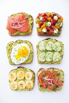 Easy and quick ways to top an avocado toast all with fresh ingredients for breakfast, lunch, or dinner! Easy and quick ways to top an avocado toast all with fresh ingredients for breakfast, lunch, or dinner! Healthy Snacks, Healthy Eating, Healthy Recipes, Clean Eating, Simple Healthy Breakfast Recipes, Recipes With Avocado, Easy Recipes, Diet Recipes, Radish Recipes