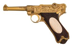 This is an authenticated Mauser factory-engraved, presentation-grade Model P.08 Luger pistol presented by the Nazi Foreign Minister Joachim von Ribbentrop (1893-1946) to Ambassador Franz von Papen (1879-1969). Von Ribbentrop was executed as a Nuremberg war criminal, and von Papen served two years for lesser crimes.