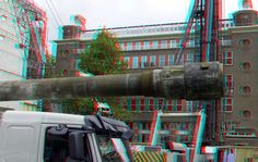 https://flic.kr/p/VwRytF | boorpaal The Muse Wijnhaven Rotterdam 3D | anaglyph stereo red/cyan