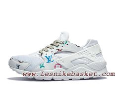 sale retailer ab718 06720 Nike Air Huarache (Air Urh) White X LV Chausures Officiel Gucci Pour Homme  Blanc