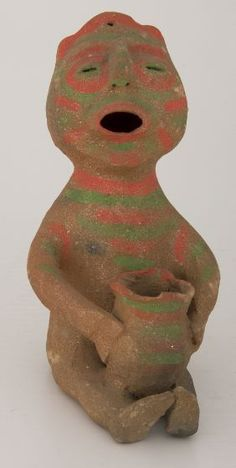 Seated Figure, Central American, 20th century, Harvard Art Museums/Fogg Museum.