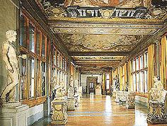 Uffizi Gallery Florence Italy - World Travel Guide - Uffizi Museum Florence Italy art galleries Firenze Italy, Italy Art, Italy Italy, Florence Tuscany, World Travel Guide, Beautiful Places In The World, Beautiful Buildings, Italy Travel, Travel Europe