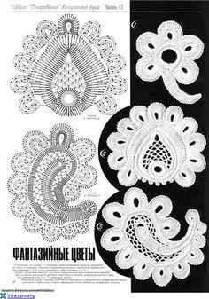 TRICO y CROCHET-madona-mía: Aplicaciones para crochet Ruso o Irlandés con patrones-A-,