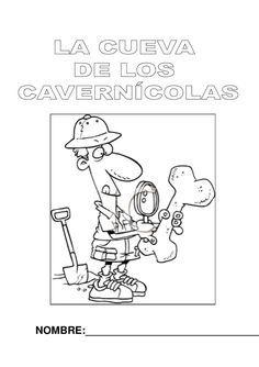 """Proyecto """"La cueva de los cavernícolas"""" Fichas propias y de otras fuentes, material e imágenes relacionadas con la investigación de la prehistoria en Educación Infantil."""