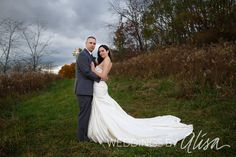 Bride and groom wedding ceremony at Five Pines Barn in North Huntingdon