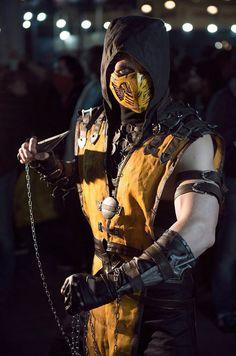 Scorpion Cosplay mortal kombat X by melonicor on DeviantArt Scorpion Mortal Kombat, Cosplay Mortal Kombat, Mortal Kombat Costumes, Mortal Kombat Xl, Epic Cosplay, Male Cosplay, Amazing Cosplay, Itachi Uchiha, Naruto