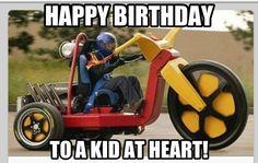 Biker birthday humor; funny birthday