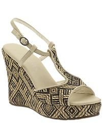 These look comfy - and will go with so much while incorporating a tribal trend.