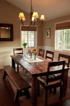 Living Room Colors With Dark Furniture Farmhouse Table 25 Trendy Ideas Dining Room Design, Dining Room Decor, Decor, Home, Farmhouse Table, Dining Furniture, Home Decor, Farmhouse Dining Room Table, Dining Room Table