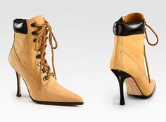Manolo Blahnik Re-Issues The 2002 'Timbs' Lace -Up Boots