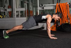 8. Spiderman Push-Up #abs #workout #exercises https://greatist.com/move/abs-workout-unexpected-moves-that-work-better-than-crunches