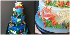 Ocean Sea / Beach Theme Bar & Bat Mitzvah Kosher Cakes by Cake & Co. - mazelmoments.com