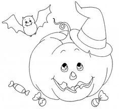 Zucca di Halloween fantasmi e caramelle stampa e colora il disegno 477122f22873