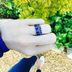 Happy Monday.  #sapphire #stackables #rings #finejewelry #bluesforever #wishlist #alexandrajules