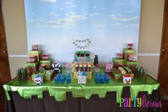 "Photo 1 of 28: Minecraft Birthday Party / Birthday ""{Minecraft Birthday}"" 