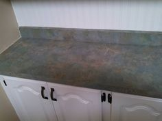painting my kitchen counter tops to look like granite , countertops, how to, kitchen design, painting Painting Kitchen Counters, Countertop Redo, Wood Countertops, Granite Kitchen, Diy Counters, Painting Countertops, Kitchen Islands, Home Decor Kitchen, Kitchen Furniture