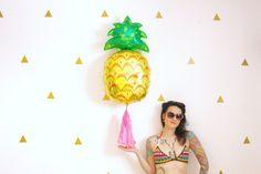Pineapple Tassel Balloon Tropical Beach Pineapple Party by pomtree