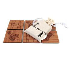 Our beautiful Karoo inspired wooden coasters each have their own intricate Karoo symbol carving and come packaged in a locally made linen draw string bag. Wooden Coasters, String Bag, How To Draw Hands, Carving, Symbols, Ceramics, Inspired, Unique, Inspiration