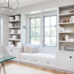 Window seat and built-ins