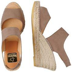 Kanna Morbidone Espadrilles featuring polyvore women's fashion shoes sandals safari tan slip on wedge sandals leather wedge sandals wedge espadrilles leather strap sandals tan sandals