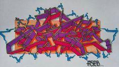 AsebOner! Peace!  Yo! #colours #art #artwork #graffiti #sketch #project