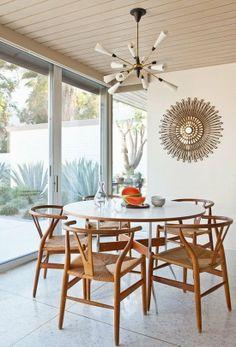 Modern Dining Room with pendant lighting