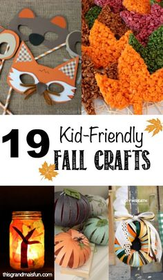 Get in the autumn-time mood with this list of fun, kid-friendly fall crafts! They're simple and easy to do with your children or grandkids!