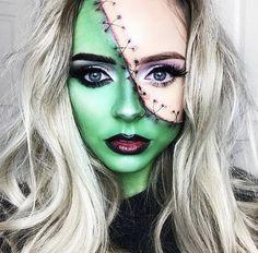 Epic Halloween Costumes, Halloween Inspo, Halloween Makeup Looks, Halloween Cosplay, Halloween Make Up, Halloween Magic, Halloween 2019, Halloween Party, Frankenstein Makeup