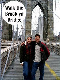 Walk the Brooklyn Bridge - Free travel tips: http://www.ytravelblog.com/how-to-save-money-on-travel/